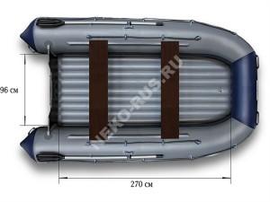 Надувной моторный катамаран ФЛАГМАН 380K