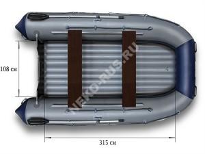 Надувной моторный катамаран ФЛАГМАН 420K