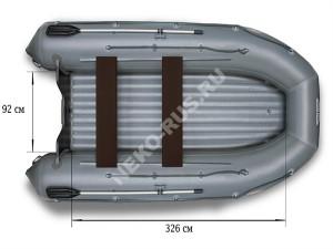 Надувная моторная лодка ФЛАГМАН 450