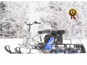 Мотобуксировщик Мухтар 15 с лыжным модулем УЛМ-1