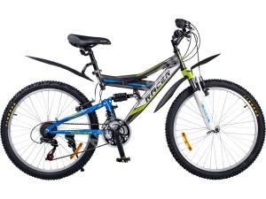 Велосипед спортивный двухподвесный RACER 24-203