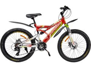 Велосипед спортивный двухподвесный RACER 24-218 (disk)