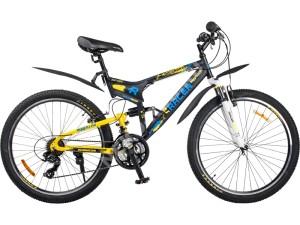 Велосипед спортивный двухподвесный RACER 26-204