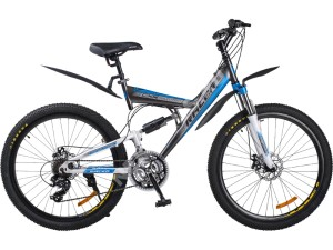 Велосипед спортивный двухподвесный RACER 26-217 disk