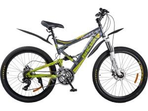 Велосипед спортивный двухподвесный RACER 26-220 disk