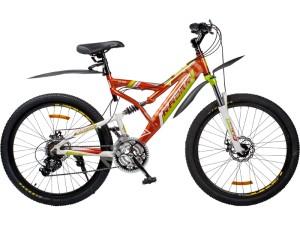 Велосипед спортивный двухподвесный RACER 26-225 disk