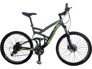 Велосипед спортивный двухподвесный RACER 26-231 disk