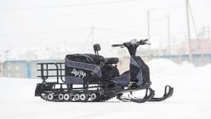 Мотобуксировщик Мухтар 15 без реверса (2018 модельный год) с лыжным модулем УЛМ-2